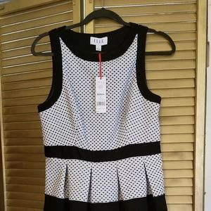 New!  Elle Black and white dress